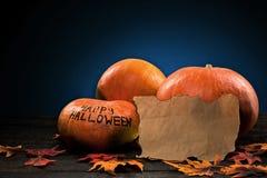 halloween lyckliga pumpor Royaltyfri Fotografi