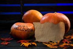 halloween lyckliga pumpor Arkivbilder