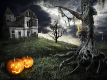 halloween lyckligt tema Arkivbild