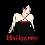 Halloween-Mädchen Stockfotografie