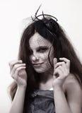 Halloween-Mädchen stockbild