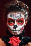 Halloween maakt omhoog suikerschedel Stock Fotografie