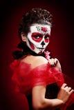 Halloween maakt omhoog suikerschedel Royalty-vrije Stock Afbeeldingen