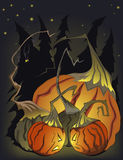 Halloween mad pumpkins stock images