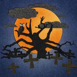 Halloween is made from recycled paper. Royalty Free Stock Photo