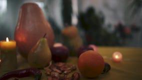 halloween Magia stół dla Halloweenowego Halloween zbiory wideo