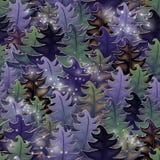 Halloween magic forest, seamless pattern. Vector illustration Royalty Free Stock Photo