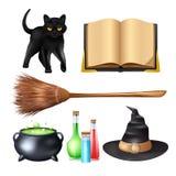 Halloween Magic Set vector illustration