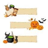Halloween magic web banners Stock Photography