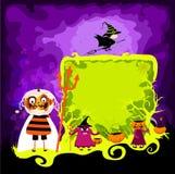 Halloween magical frame Stock Image
