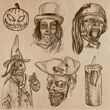 Halloween, Magische Monsters, - Vectorinzameling Royalty-vrije Stock Afbeeldingen