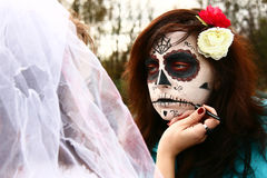 Halloween-Make-up Lizenzfreies Stockfoto