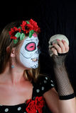 Halloween make up mexican mask Royalty Free Stock Images
