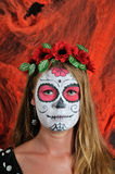 Halloween make up mexican mask Royalty Free Stock Photography