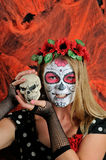 Halloween make up mexican mask Royalty Free Stock Image