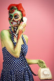 Halloween make-up Royalty Free Stock Images