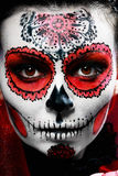 Halloween make up sugar skull royalty free stock image