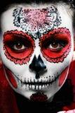 Halloween make up sugar skull Royalty Free Stock Image