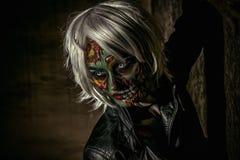 Halloween make-up Stock Image