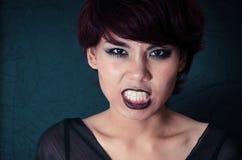 Halloween Makeup. Woman studio shot Halloween Makeup Stock Photography