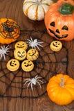 Halloween-Makronen Lizenzfreie Stockbilder