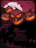 halloween mallvektor Royaltyfri Bild