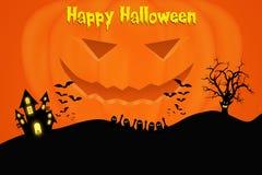 Halloween-malplaatjeontwerp met ruimte voor tekst of bericht royalty-vrije illustratie