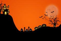 Halloween-malplaatjeontwerp met ruimte voor tekst of bericht vector illustratie