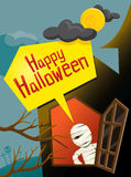 Halloween-Mama und -fenster Lizenzfreie Stockbilder