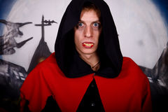 Halloween man vampire Stock Photo