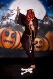Halloween-Mannzeichen stockfoto