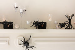Halloween Mantle display Stock Photos