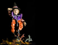halloween marionettehäxa royaltyfri foto