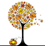 Halloween marple tree 1 Royalty Free Stock Photo