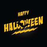 Halloween marquant avec des lettres Halloween heureux Image stock
