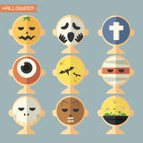 Halloween mask, avatar Royalty Free Stock Images