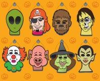 Halloween Mask Display Royalty Free Stock Photos