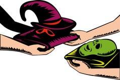 Halloween mask exchange Stock Image