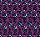 Halloween mask Seamless Damask pattern Stock Image