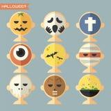 Halloween-masker, avatar Royalty-vrije Stock Afbeeldingen