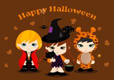 Halloween-Maskottchen Stockfoto