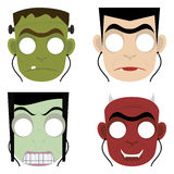 Halloween masks. Abstract cute halloween masks on a white background royalty free illustration
