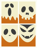 Halloween Masks Background Stock Photography