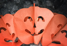 Halloween masks. On dark background Royalty Free Stock Images