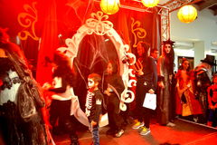 Halloween masquerade party phantoms Royalty Free Stock Photo