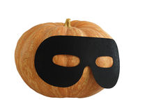 Halloween masqueraded pumpkin Royalty Free Stock Images