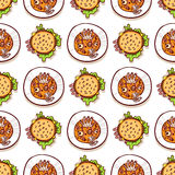 Halloween meal seamless pattern Royalty Free Stock Images