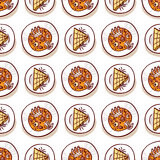 Halloween meal seamless pattern Stock Photography