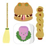 Halloween_meal_set Fotografia Royalty Free