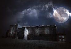 halloween medeltida landskap Royaltyfri Fotografi